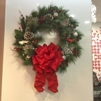Wreath Red R15 Designer Christmas