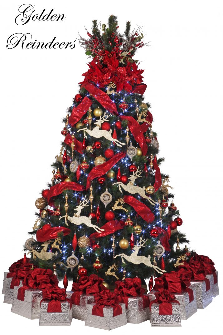 1 Golden Reindeers Presents1 L Designer Christmas Christmas Tree Hire Perth jpg