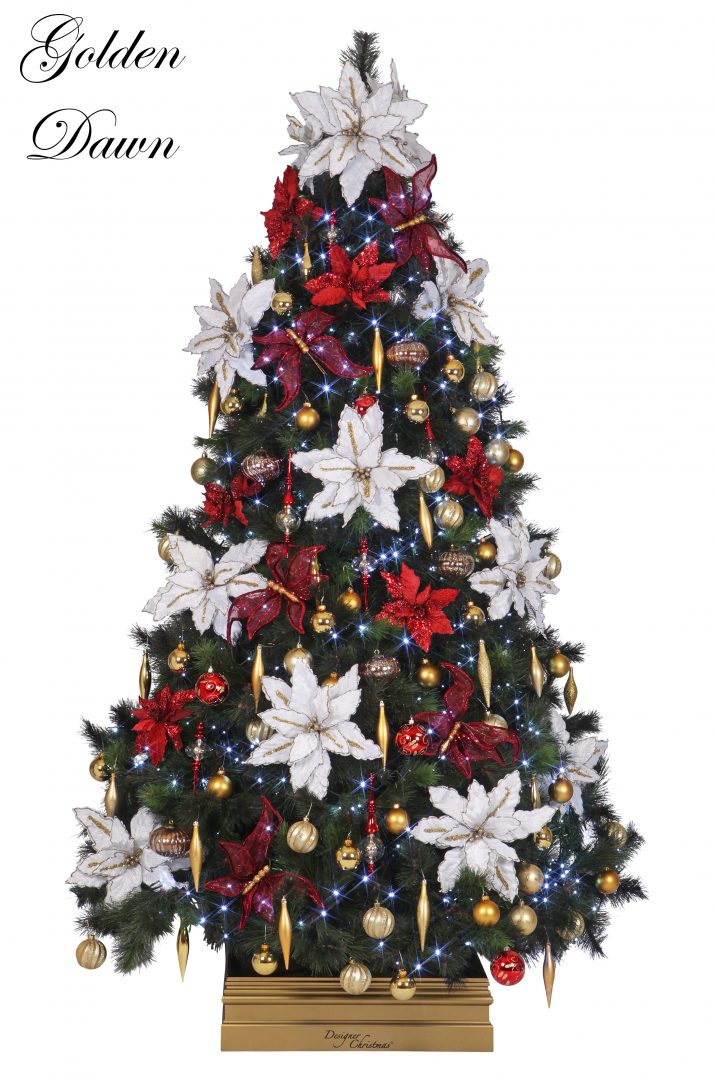 2 Golden Dawn L Designer Christmas Christmas tree Hire Perth