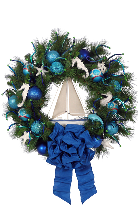 Nautical Christmas Wreath.Nautical Christmas Wreath Designer Christmas