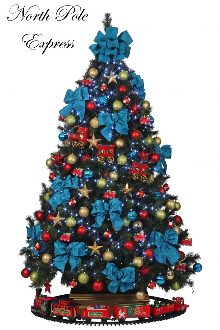 3 North Pole Express L1 Designer Christmas Christmas Tree Hire Perth